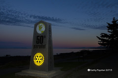 50th Parallel 3331 (kathypaynter.com) Tags: sunset forsale outdoor marker 50th rotary campbellriver faa rotaryclub 50thparallel paynter sunsetscenery rotarylogo fineartamerica campbellriverscenery 50thparallelmarker parallelmarker campbellriverrotary rotarymarker kathypaynter kathypayntercom