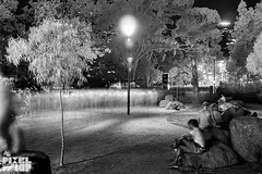 White night in infrared melbourne 2015 (pixelwhip) Tags: city bw white black festival night ir long exposure crowd australia melbourne ii infrared modified ghosts cbd 24mm crowds tse f35 2015 eosm pixelwhip