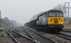 Class 56 Group's Class 56/3 no 56301 waits to leave Thoresby Colliery Sidings with a service to York (kevaruka) Tags: uk greatbritain england sun color colour history colors sunshine fog composition train canon eos saturated flickr colours foggy rail railway sunny loco trains historic retro telephoto locomotive newark railtour coal frontpage oldskool britishrail nottinghamshire sunnyday colliery thoresby networkrail 56301 newarknorthgate eos7d canon7d retrotours thoresbycolliery kevinfrost thephotographyblog thoresbypit newarkdiamondcrossing ilobsterit