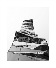 Torre de Gas Natural #2 (Mr sAg) Tags: barcelona blackandwhite holiday building glass architecture reflections mono spain panes gas catalunya shattered torremarenostrum fenosa enricmirallesbenedettatagliabue torredegasnatural mrsag gasnaturalfenosa simonharrison2015