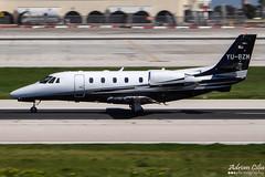 Private --- Cessna 560XL Citation XLS+ --- YU-BZM (Drinu C) Tags: plane private aircraft aviation sony panning dsc cessna citation mla bizjet privatejet xls 560xl lmml yubzm hx100v adrianciliaphotography