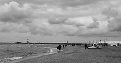 Cloudy Day at the Beach II (ericgrhs) Tags: ocean sea lighthouse beach clouds strand warnemnde meer cloudy wolken balticsea ostsee rostock leuchtturm mecklenburgvorpommern