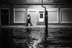 Water is coming ... (alessandrafinocchiaro67) Tags: venice light people white black water monochrome night high open fx nikond750