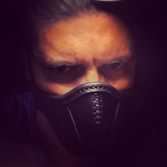 Selfie. #Cyberpunk #CyberGoth #postapocalyptic #postapocalypse #steampunk #steampunkmask #leathermask #handmade #LARP #dieselpunk #leather #Darkart #costume #creepy (tovlade) Tags: black girl face make up leather punk hand mask goth goggles made doctor cyber cybergoth cyberpunk plague larp steampunk postapocalyptic postapocalypse dieselpunk