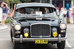 Old Daimler - Jacaranda Parade 2015 (sbyrnedotcom) Tags: 2015 people events grafton jacaranda parade rural town daimler nsw australia