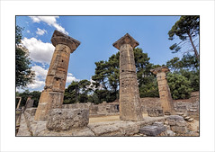 Templo de Hera / Temple of Hera (eserrano13) Tags: archaeology greek temple columns goddess greece grecia olympia templo diosa columnas arqueologa olimpia
