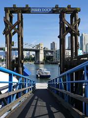 FERRY DOCK (leuntje) Tags: vancouver britishcolumbia canada granvilleisland falsecreekferries ferry ferrydock falsecreek burrardbridge