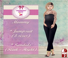 {CP} Polka dots - Mommy (julinha.criss) Tags: mother mommy daughter adult toddleedoo kids baby dress jumpsuit polkadots black store charmant petit