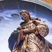 Detalle de la imagen de la virgen, que se guarda dentro de la capilla del Palacio de Linares y que aparece representada en posición de plegaria, alzada en el aire justo encima del altar.