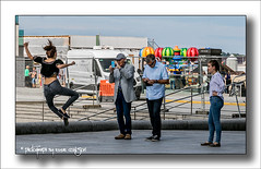 Jumping For Joy (Fermat48) Tags: liverpool mannisland waterfront pierhead liverpoolloves2016 festival smartphone jumping merseyside uk