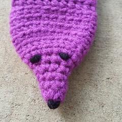 My first vinx face (crochetbug13) Tags: crochet crocheted crocheting accessory mink minks vinx veganmink frenchknot satinstitch diy