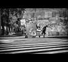 A Heavy Load (EddyB) Tags: barcelona blackandwhite bw blancoynegro europa europe fuji bcn streetphotography catalonia catalunya fujinon cataluña barcelone pasocebra eddyb humanfactor xt1 factorhumano xf1855f284mm