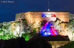 13 Juillet 2016 - Lion de Belfort (G. Regisser Photographie) Tags: fte nationale 13 14 juillet 2016 bleu blanc rouge libert lion bartholdi citadelle belfort canon 5d mark iii 24 70 f28 paysage vauban