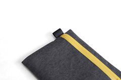 Flat Pouch Charcoal 05 (Imagery Bags) Tags: zipper ykk waterresistant flatpouch drypouch