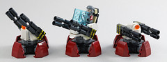 Turrets (MaverickDengo) Tags: space lego moc futuristic military defenses infantry alien ldd digital designer