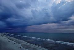 Stormy weather (shannon4462) Tags: stormyweather clouds sky horizon beach myrtlebeach ocean sonydscrx100 atlantic apachepier lines stormclouds ominous rain coast coastline