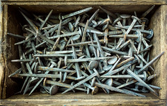 Sharp as a Box of Nails (ep_jhu) Tags: wood washington box rust nails dc fujifilm x100s smithsonian moho folklifefestival nationalmall fuji caja metal decayed dcist clavos districtofcolumbia unitedstates us explore