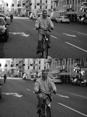 [La Mia Citt][Pedala] (Urca) Tags: milano italia 2016 bicicletta pedalare ciclista ritrattostradale portrait dittico bike bicycle biancoenero blackandwhite bn bw 872120 nikondigitale mir