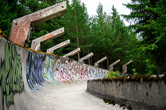 1984 Olympic Bob Track (Nuuttipukki) Tags: 1984 olympic games olympia olympische winterspiele sarajevo sarajewo winter olympiade bob bobbahn track sledge ruins decay lost place forest jahorina history war destroyed bosnia bosnien