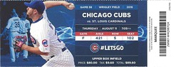 St. Louis Cardinals vs. Chicago Cubs, August 11, 2016 (Brule Laker) Tags: wrigleyfield baseball chicagocubs mlb stlouiscardinals chicago friendlyconfines tickets nationalleague