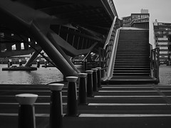 Jan Schaeferbrug (Skylark92) Tags: bw jan schaeferbrug amsterdam water ijhaven ij nederland netherlands holland java eiland veemkade bridge