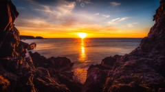 Scottish Summer Sunset (Augmented Reality Images (Getty Contributor)) Tags: canon cliffs clouds harbour landscape leefilters longexposure morayshire portknockie rocks scotland summer sun sunset water