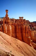 Bryce Canyon, Thor's Hammer and the three Virgins, Utah VS 1992 (wally nelemans) Tags: brycecanyon thorshammer threevirgins utah vs usa 1992