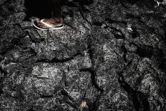 cold lava (Collin Key) Tags: foot rammangrammang sandal karst sulawesi makassar abstract blackandwhite indonesia stone shoe idn