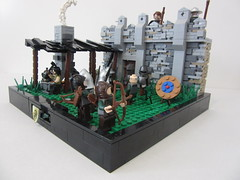 The Retaking of Eolas: Construction of a army (themaestro2) Tags: lego castle retakingofeolas goh guildsofhistorica avalonia blacksmith army training wall