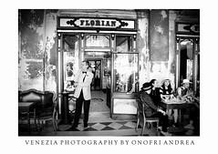 Caffe Florian (aonofri) Tags: venezia caffe floriani relax holliday people black white cappuccino italy veneto europe
