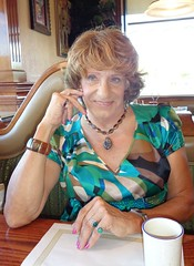 At Lunch With A Friend (Laurette Victoria) Tags: top laurette auburn lunch milwaukee woman necklace