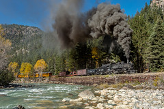 Along the Rio de las Animas Perdidas (kdmadore) Tags: drgw denverriograndewestern durangosilverton dsng durango silverton steamlocomotive steamengine railroad train narrowgauge