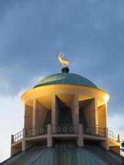 Kunstgebude cupola against the sunset sky, Stuttgart, Germany (Paul McClure DC) Tags: stuttgart germany deutschland aug2016 badenwrttemberg architecture sculpture historic