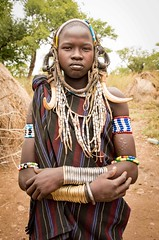 Mursi Woman, Ethiopia (Rod Waddington) Tags: africa african afrika afrique ethiopia ethiopian ethnic etiopia ethnicity ethiopie etiopian thiopien mursi tribe traditional tribal omovalley omo omoriver valley valle village culture cultural outdoor people