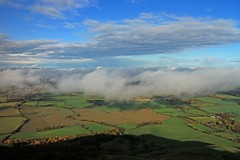 I See Fields of Green (RoystonVasey) Tags: canon eos m 1855mm zoom north yorkshire moors nymnp cringle moor viewpoint low cloud inversion clearing