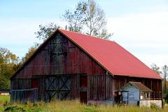Red Barn (shutterbusterbob) Tags: barn rustic old oldbarn skagitcounty skagitvalley washington washingtonstate pacificnorthwest northwestwashington canon canoneos canoneos70d canon70d eos eos70d eoscanon 70d rundown weatherd