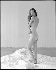 Dominique (matwiej85) Tags: pentax6x7 105mmf24 ilforddelta400 woman boudoir