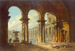 Hubert Robert - The Hermitage Museum -1262. Ancient Ruins Used as Public Baths (1798) (lack of imagination) Tags: 15002000 baths blog hermitagemuseum hubertrobert landscape people ruins water