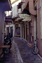 (daria.lipova) Tags: rethymno crete 2016 street bike narrow old film konica