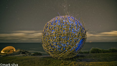an impression of sound (mark silva) Tags: sculpturebythesea bondi sydney nsw australia 2016 thegoldenhour caveurban lightpainting paintingwithlight night nocturne sxsbondi sxs2016
