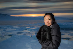 The light (Clare Kines Photography) Tags: arctic nunavut sunset arcticbay portrait north ice multiyearice adamssound canada family paulcbuffeinstein leah inuit