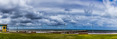 Henley Beach Foreshore. (johnwilliamson4) Tags: adelaide clouds foreshore henleybeach jetty lifesavingclubhouse panorama sky southauatralia water southaustralia australia