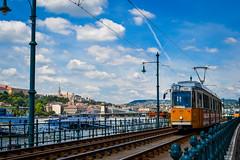 Postcard from Budapest (Yannis_K) Tags: budapest hungary danube tram tramlines cityscape travel yannisk nikond3100 nikon1855mmf3556vr blueskies clouds sunny castlehill