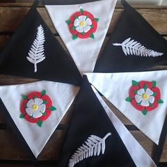New Zealand fern and the English rose (Emma Bunting) Tags: new zealand fern english rose cotton bunting felt emma wedding bespoke personalised party event garland banner