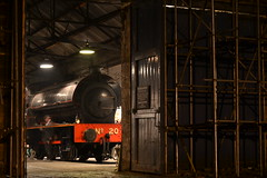 Tanfield Railway photographic night (Ghost engine driver) (andrew_davison27) Tags: steam engine tanfield railway locomotive marley hill shed tank ghost phantom saddle