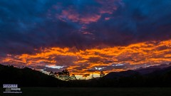 Fiery Sky at Cades Cove (The Suss-Man (Mike)) Tags: cadescove clouds greatsmokymountainsnationalpark mountains nature northgeorgiaphotographyclub sky smokymountains sonyslta77 sunrise sussmanimaging tennessee thesussman trees townsend unitedstates