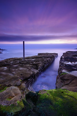Lurline Mood (Rodney Campbell) Tags: ocean longexposure sky lightpainting water clouds sunrise twilight australia torch newsouthwales maroubra cpl lurlinebay gnd09