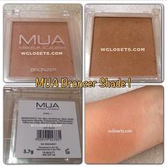 พร้อมส่ง #MUA Bronzer เฉด 1 ปัดแล้วดูธรรมชาติมากค่ะ สีออกอมส้มมีวิ้งเล็กน้อย ใช้ได้ทุกสีผิวปัดแล้วสวยมาก ไม่โดดหรือวอก ปัดแล้วหน้าสว่าง สามารถคอนทรัวเฉดดิ้งตีกรอบใบหน้าได้นะคะ หรือปัดเป็นบลัชได้เหมือนผิวสีบ่มแดด ปกติราคาตลับละ 290 บาท พิเศษ 250บาท  ตลับให