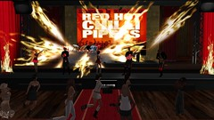 Red Hot Chilli Pipers set fire to The Cotton Club (alexandriabrangwin) Tags: world rock computer spectacular fun fire drums 3d graphics allie dancing live flames performance band scottish jig secondlife virtual ballroom thom covers tribute bagpipes pyro loud act cgi riverdance paat koda florin thecottonclub redhotchillipipers alexandriabrangwin nikkiarentire