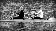 Roundhay Rowers (Wipeout Dave) Tags: people blackandwhite leeds rowing roundhaypark rowers wipeoutdave canoneos1100d davidsnowdonphotography djs2014